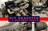 Kit Dragster Fifa Drag + 3 motores 6 cilindros em linha Opala