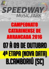 Campeonato Catarinense de Arrancada 2016 - 4ª Etapa - 07/10/2016 a 09/10/2016 - Speedway M. Park - Balneário Camboriú - SC - 201 Metros