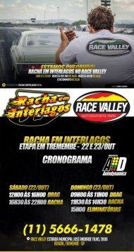 Racha Interlagos em Tremembé (SP) - 22/10/2016 a 23/10/2016 - Race Valley Motorsports Park - Tremembé - SP - 201 Metros