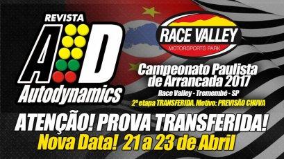 Campeonato Paulista de Arrancada 2017 - 2ª Etapa - 21/04/2017 a 23/04/2017 - Race Valley Motorsports Park - Tremembé - SP - 201 Metros