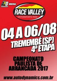 Campeonato Paulista de Arrancada 2017 - 4ª Etapa - 04/08/2017 a 06/08/2017 - Race Valley Motorsports Park - Tremembé - SP - 201 Metros