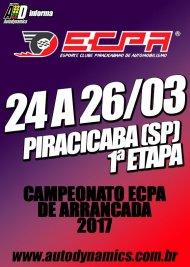Campeonato ECPA de Arrancada 2017 - 1ª Etapa - 24/03/2017 a 26/03/2017 - Esporte Clube Piracicabano de Automobilismo ECPA - Piracicaba - SP - 201 Metros