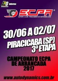 Campeonato ECPA de Arrancada 2017 - 3ª Etapa - 30/06/2017 a 02/07/2017 - Esporte Clube Piracicabano de Automobilismo ECPA - Piracicaba - SP - 201 Metros