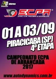 Campeonato ECPA de Arrancada 2017 - 4ª Etapa - 01/09/2017 a 03/09/2017 - Esporte Clube Piracicabano de Automobilismo ECPA - Piracicaba - SP - 201 Metros