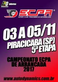 Campeonato ECPA de Arrancada 2017 - 5ª Etapa - 03/11/2017 a 05/11/2017 - Esporte Clube Piracicabano de Automobilismo ECPA - Piracicaba - SP - 201 Metros