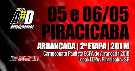 Campeonato Paulista ECPA de Arrancada 2018 - 2ª Etapa - 05/05/2018 a 06/05/2018 - Esporte Clube Piracicabano de Automobilismo ECPA - Piracicaba - SP - 201 Metros