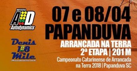 Campeonato Catarinense de Arrancada na Terra 2018 - 2ª Etapa - 07/04/2018 a 08/04/2018 - Papanduva - SC - 201 Metros