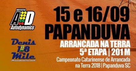 Campeonato Catarinense de Arrancada na Terra 2018 - 5ª Etapa - 15/09/2018 a 16/09/2018 - Papanduva - SC - 201 Metros
