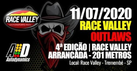 Race Valley Outlaws 2020 - 4ª Etapa - 11/07/2020 - Race Valley - Tremembé - SP - 201 Metros